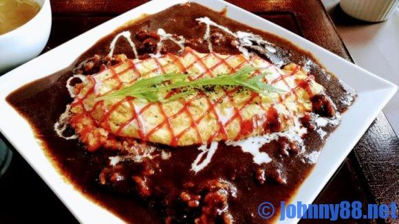 札幌市東区の洋食レストランゆっぴーのオムライス2