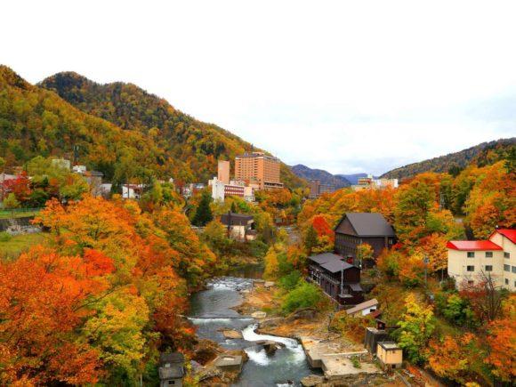 定山渓の紅葉(10月)