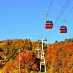 札幌国際スキー場の紅葉ゴンドラ