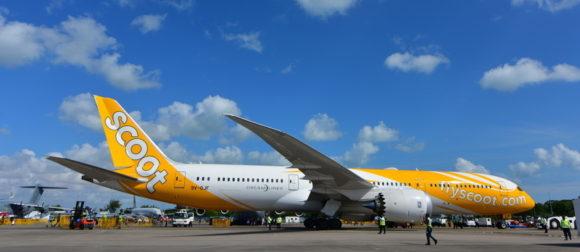 スクートの機体は黄色が特色