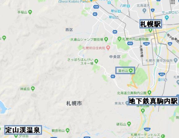 定山渓エリアマップ